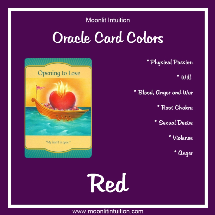 Oracle Card Colors - Red