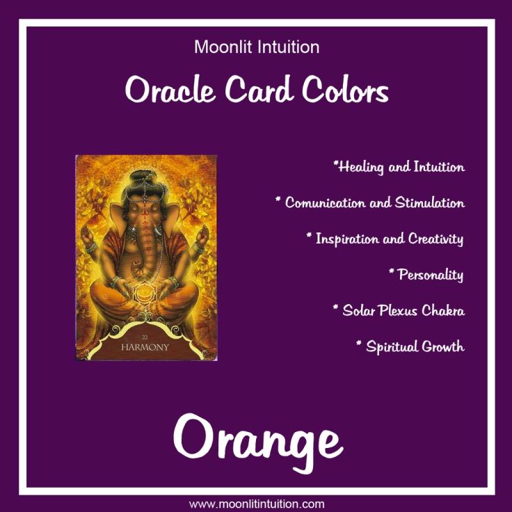 Oracle Card Colors - Orange