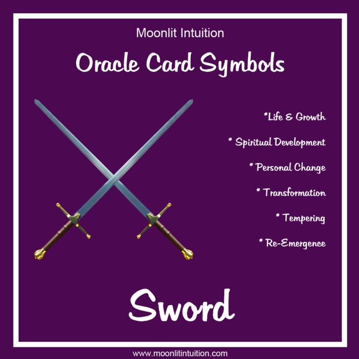 Oracle Card Symbols - Sword